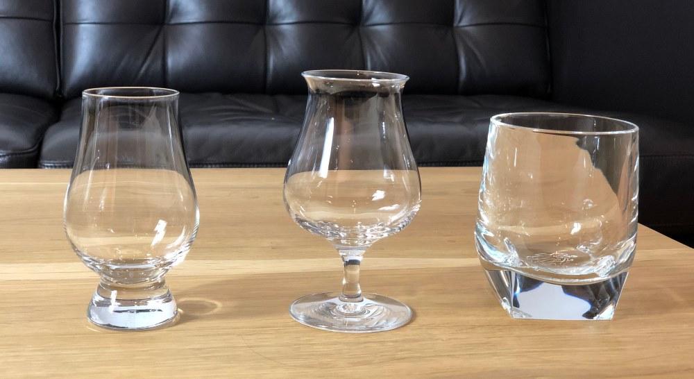 Whiskygläser im Vergleich