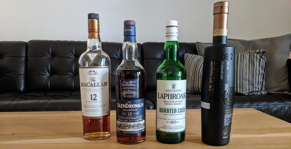 Verschiedene Whiskys