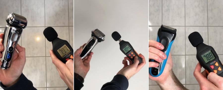 Rasierer Test: Lautstärkemessung