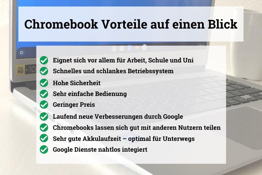 Chromebook Vorteile