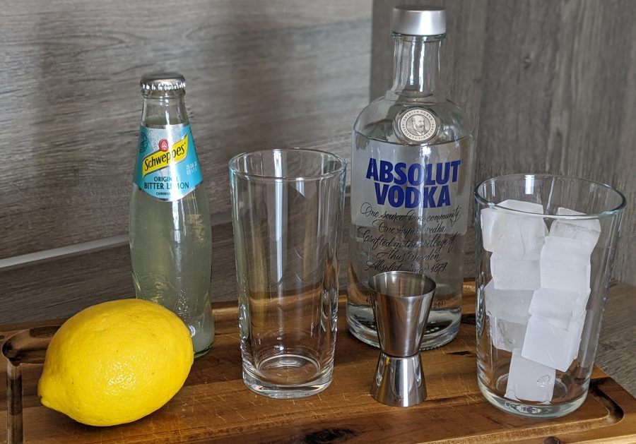 Highball Zutaten (Vodka Lemon)