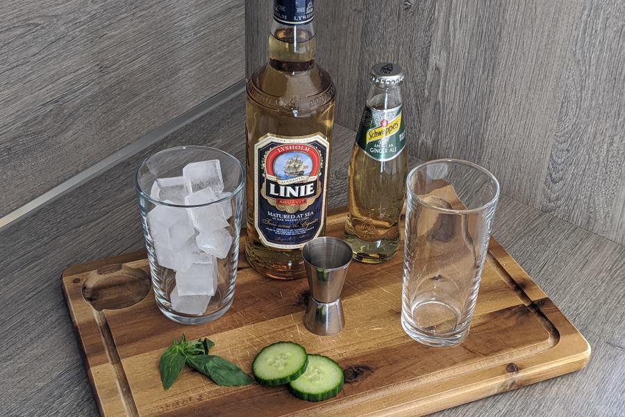 Linie Ginger Ale Zutaten