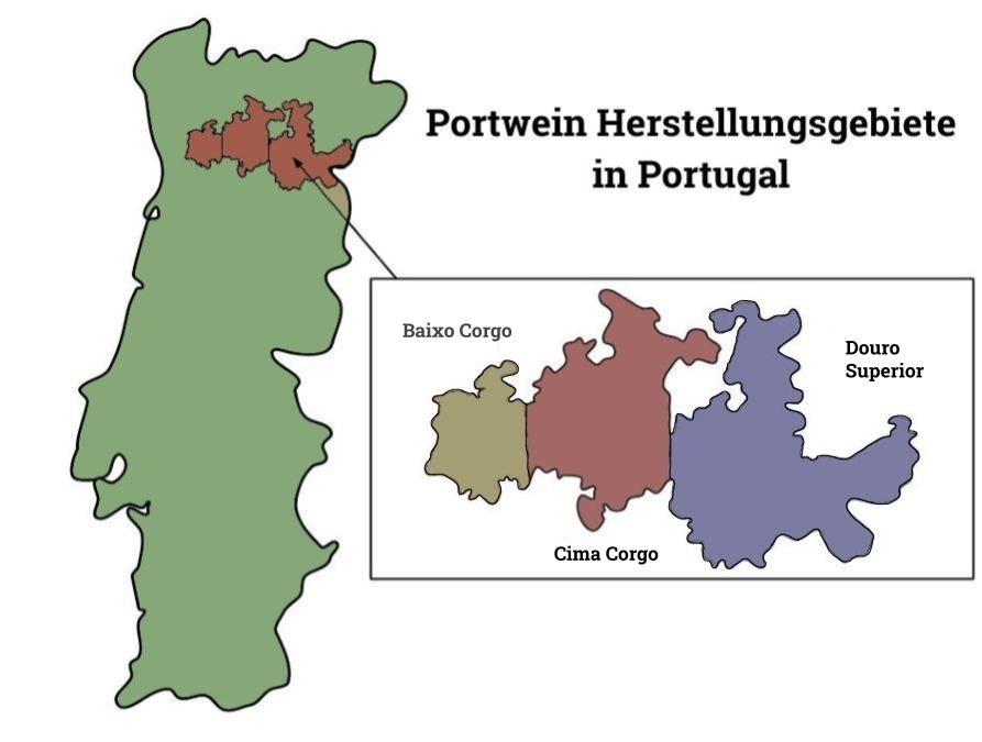 Portwein Herstellungsgebiete