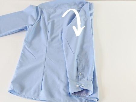 Hemd falten Schritt 3