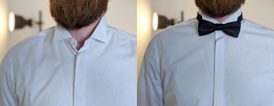 Smokinghemd mit Kläppchenkragen
