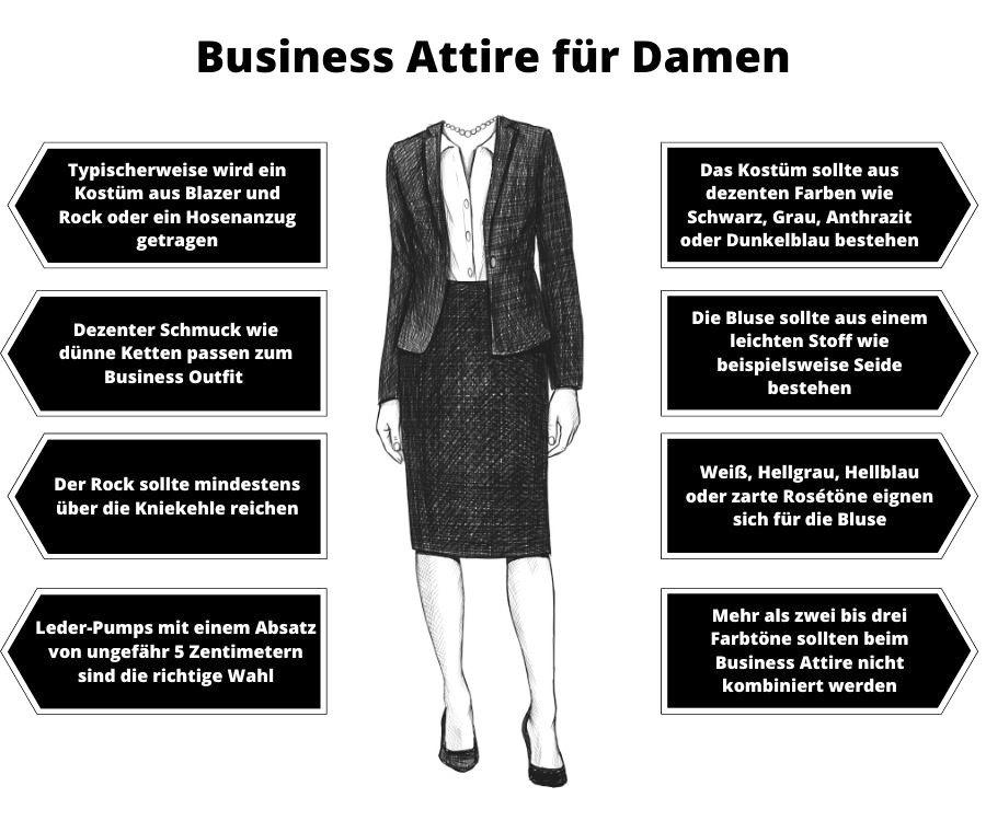 Business Attire Frauen beziehungsweise Damen