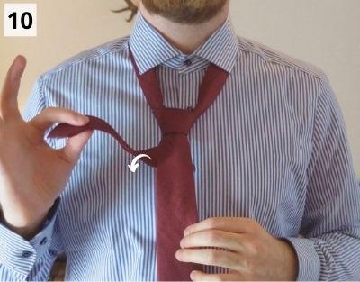 Einfacher Windsorknoten binden - Schritt 10