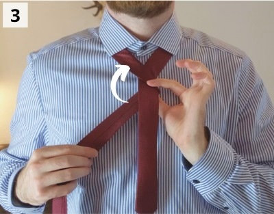 Einfacher Windsorknoten binden - Schritt 3