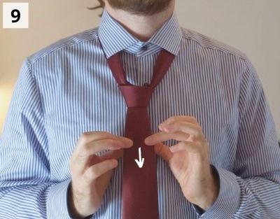 Einfacher Windsorknoten binden - Schritt 9