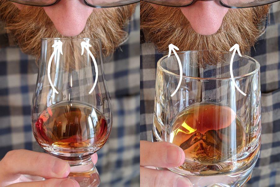 Vergleich zwischen Nosing-Glas und Tumbler