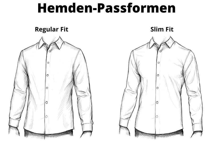 Hemden-Passformen: Regular Fit und Slim Fit