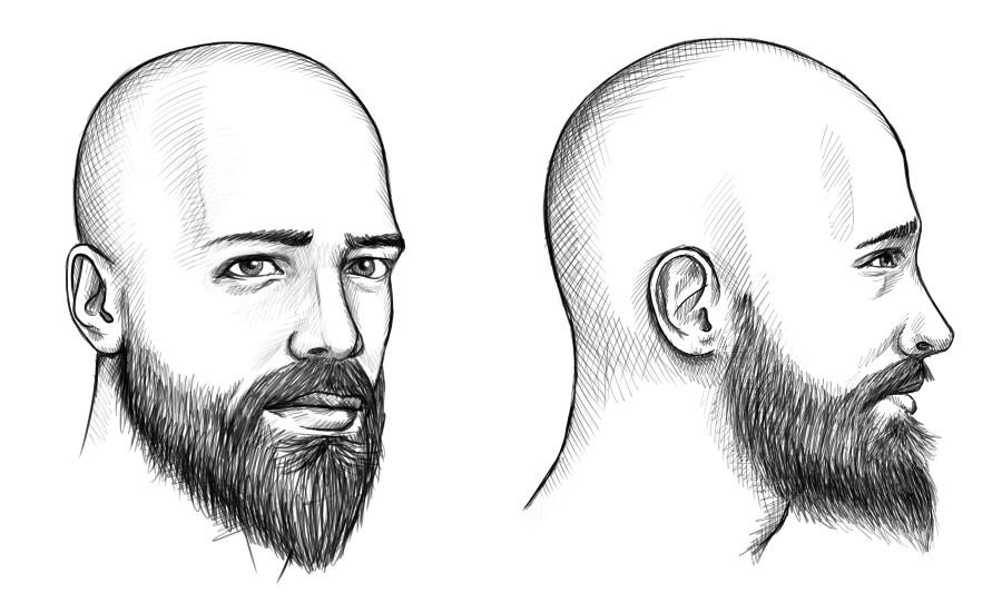 Mit ohne glatze bart oder Glatze mit