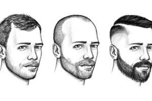 Frisuren mit Geheimratsecken