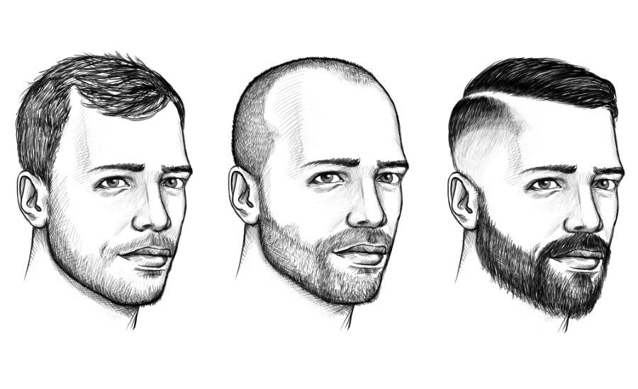 Männer lange haare nach hinten